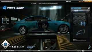 Need For Speed World Anime Art Vinyl tutorial: BMW M3 E92, Takanashi Rikka