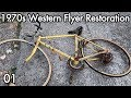 1970s Western Flyer Bicycle Restoration 01: New Tires, Breaking the Chain Free