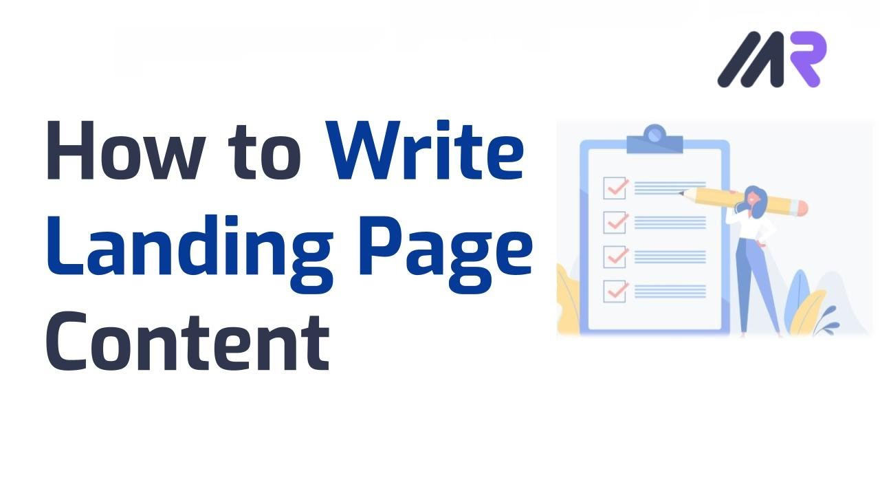 How to Write Landing Page Content That Converts