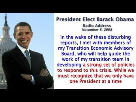 Prez. Elect Obama's Radio Address 11/08/08 - CAPTIONED
