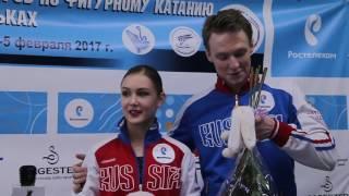 Амина Атаханова и Илья Спиридонов, интервью после ПП. Первенство России 2017