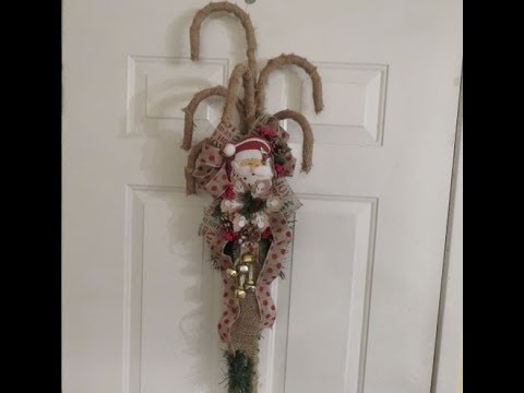 Tricia's Christmas: Dollar Tree Candy Cane Wall Decor
