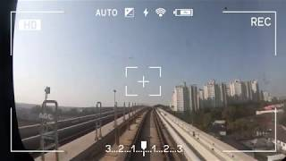 인천 지하철 2호선 검암역 ~ 검단오류역 지상구간 주행영상 Incheon subway line 2 driving view