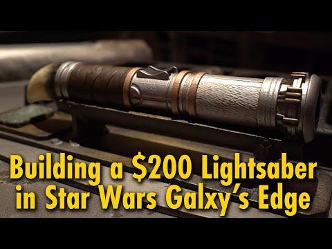 We Built a $200 Lightsaber at Star Wars: Galaxy's Edge | Disneyland & Walt Disney World