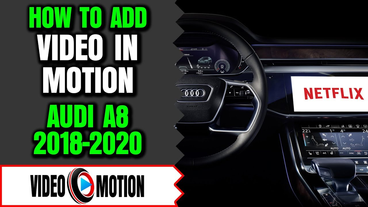 AUDI A8 Video In Motion, Audi A8 2016-2019 DVD Player While Driving, Audi  DVD Bypass Audi DVD Player