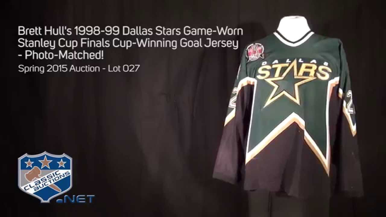 newest 6d820 8f267 Lot Detail - Brett Hull's 1998-99 Dallas Stars Game-Worn ...