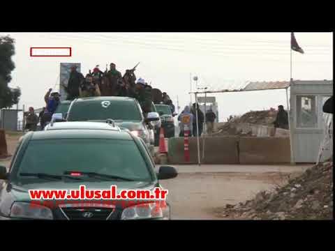 Suriye milis güçlerinin Afrin'e girişinden ilk görüntüler