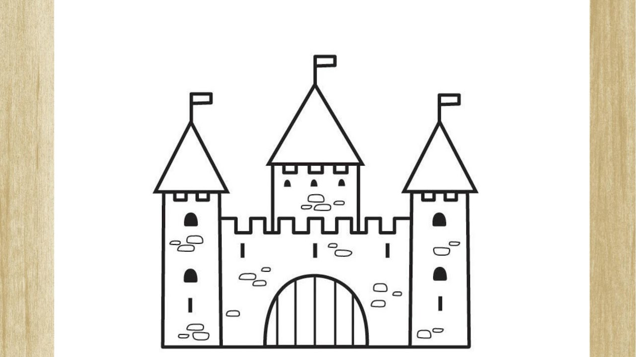 Como Desenhar Um Castelo Facil How To Draw Castle Easy Youtube