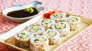 How to Make California Sushi Rolls at Home? CiCi Li - Asian Home Cooking Recipes