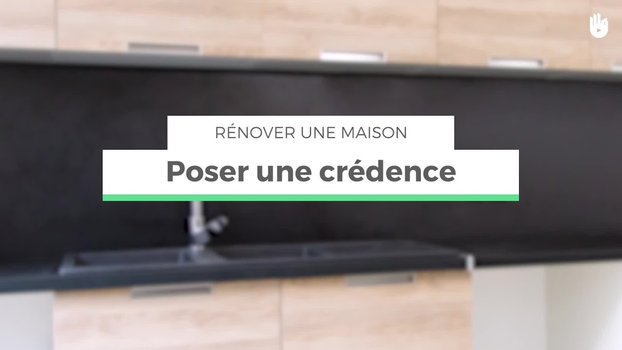 poser une cr dence dans une cuisine r nover sa maison youtube. Black Bedroom Furniture Sets. Home Design Ideas