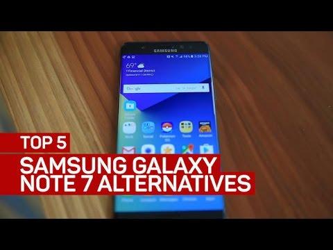 Top 5 Samsung Galaxy Note 7 alternatives