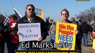 Ed Marksberry Stands Up For American Workers At The Whirlpool Plant In Evansville, Indiana. Video