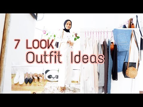 OUTFIT IDEAS 2019 (INDONESIA) || 7 Gaya ootd hijab anti ribet - YouTube