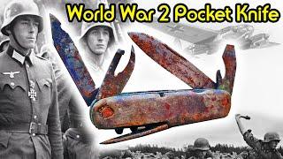 Pocket Knife Refurbishing from World War 2   COOL RESTORATION