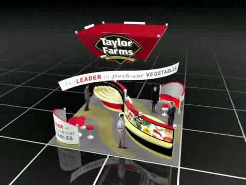 Exhibition Booth Animation : One imprint trade show exhibits design d animation taylor farms