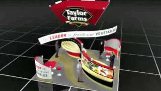 One Imprint trade show exhibits design 3D animation - Faroudja 40x60' Booth