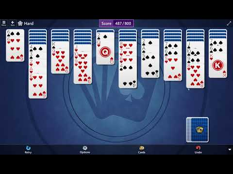 Microsoft Solitaire Collection: Spider - Hard - December 30, 2020
