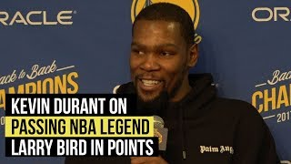 Warriors' Kevin Durant on passing Larry Bird in points