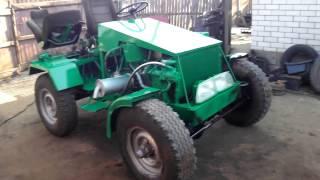 Самодельный трактор 4х4 1,6Д-полный привод.- ОСМОТР.!!!!Homemade tractor 4x4 1,6 D-all-wheel drive(Это мой джипо-трактор на базе мостов УаЗ и силового агрегата от Опель-Кадет 1,6 Дизель., 2016-02-09T08:28:58.000Z)