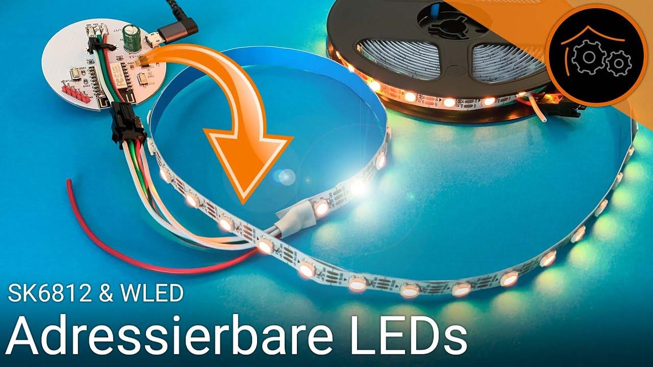 Adressierbare LED Strips mit WLED ansteuern (SK6812) - Grundlagen | haus-automatisierung.com [4K]