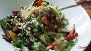 Roasted Vegetable, Gorgonzola, Pearl Barley Salad Recipe