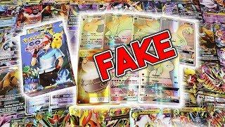 FAKE POKEMON CARDS - Pokemon GO Cards? Fake Hyper Rares? SO MANY MEGAS