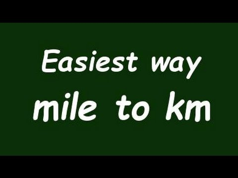 Convert Mile To Kilometer Mile To Km Example And Formula