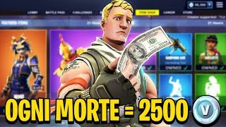 "TO EVERY WORLD MUST SHOPPARE 2,500 V-BUCKS! ""CHALLENGE EXTREME"" - Fortnite ITA"