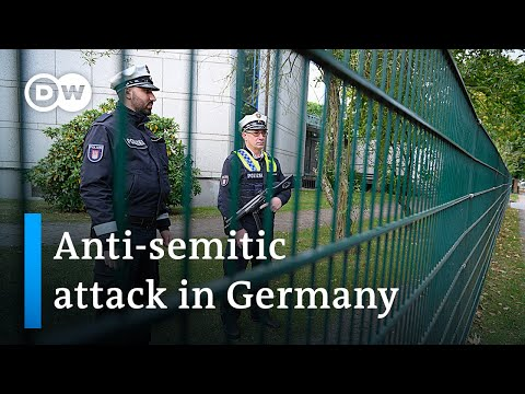 Anti-semitic attack outside Hamburg synagogue | DW News
