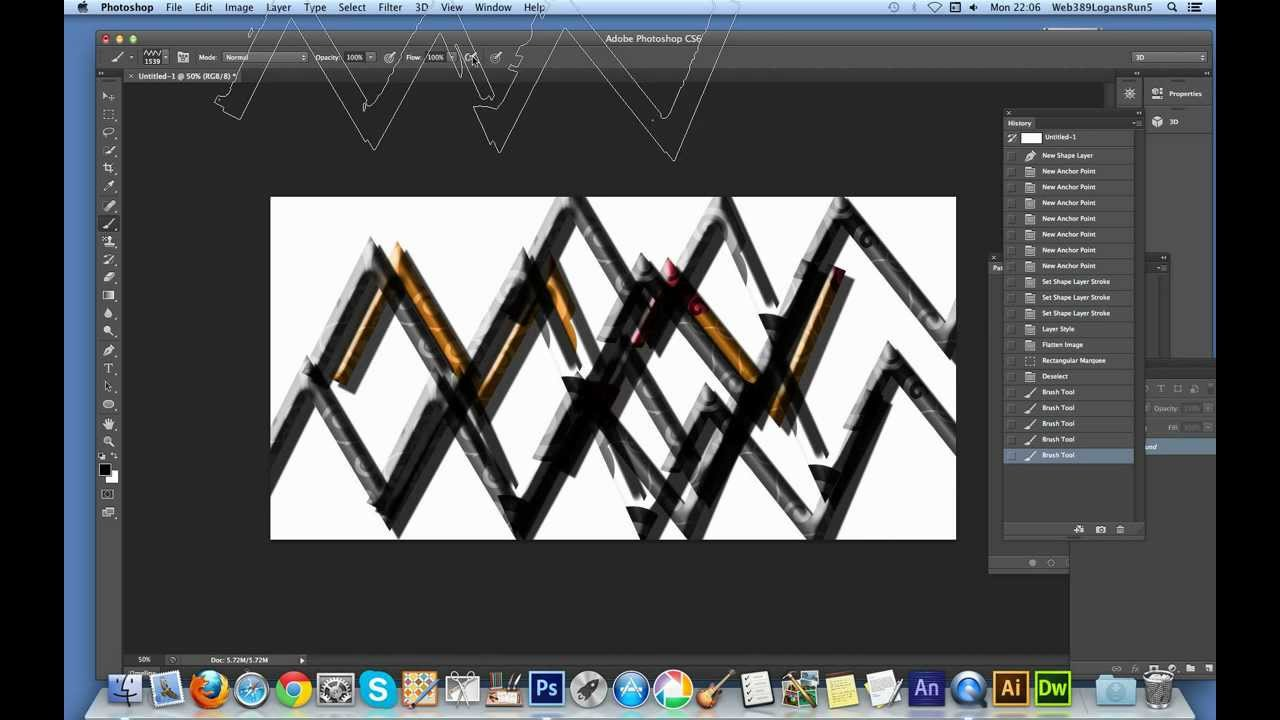 How to create a zigzag brush in Photoshop