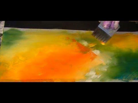 blending colours acrylfarbe verblenden tutorial youtube