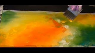 Blending Colours, Acrylfarbe verblenden, Tutorial