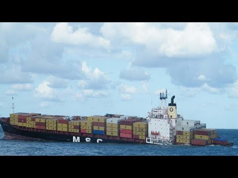 Container Ship Sinking at Rotterdam