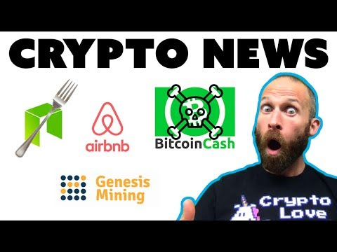 NEO Fork | End of Bcash | Airbnb Crypto | Genesis Mining Contracts