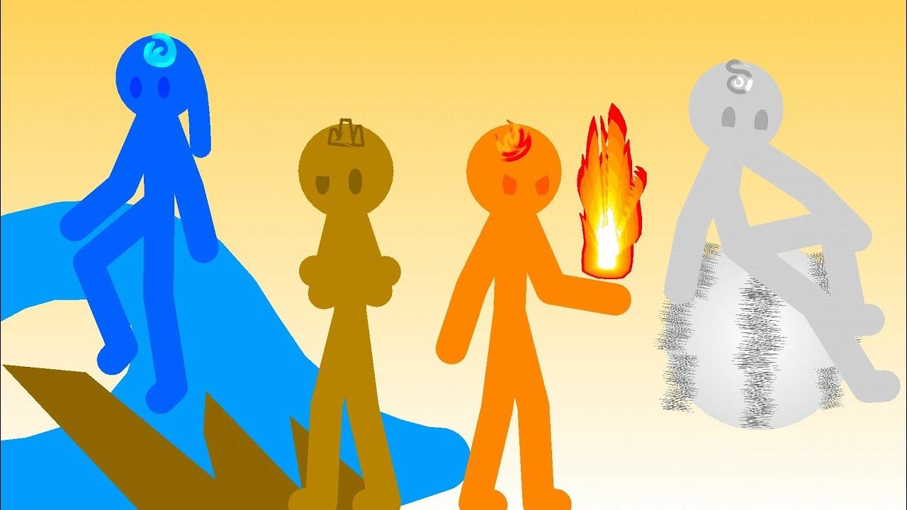 Download Elementals 1 - The 4 Main Elements (Stickman Elements Series)