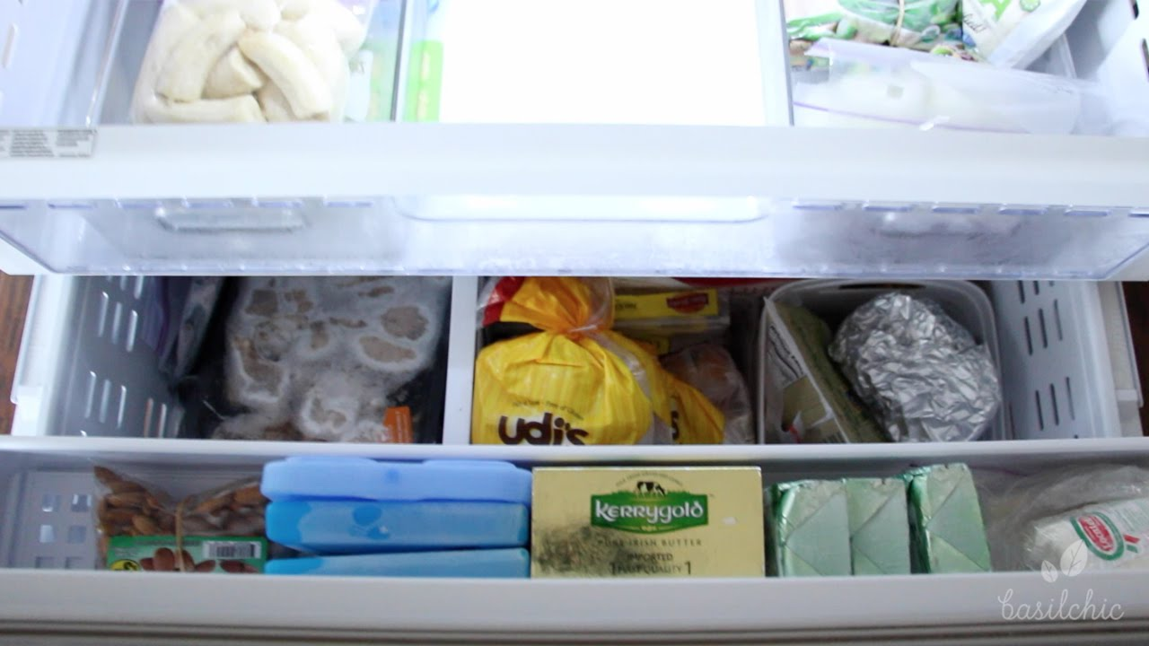 Freezer Organization Bottom Drawer Youtube