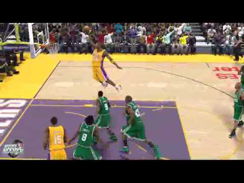 Kobe Bryant Free Throw Line Dunk NBA 2K11 - YouTube
