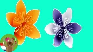 Bloemen vouwen origami DIY – Mooie bloemen voor de lente – Pasen instructies