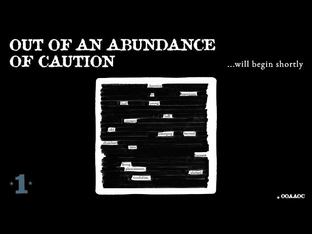 Out of an Abundance of Caution Volume Forty Six