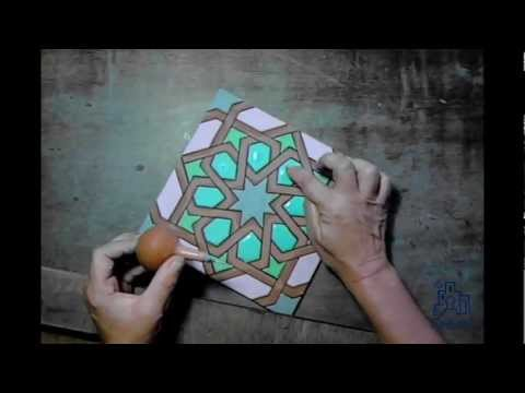 Pintando un azulejo youtube - Como pintar azulejos ...