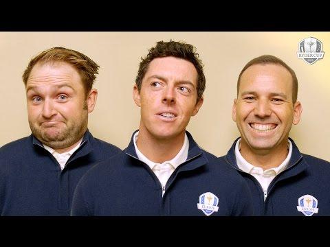 Team Mates - Rory McIlroy, Sergio Garcia, Andy Sullivan