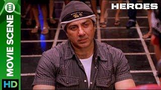 Wheelchair the strongest weapon | Movie Scene | Heroes | Sohail Khan, Vatsal Sheth, Sunny Deol