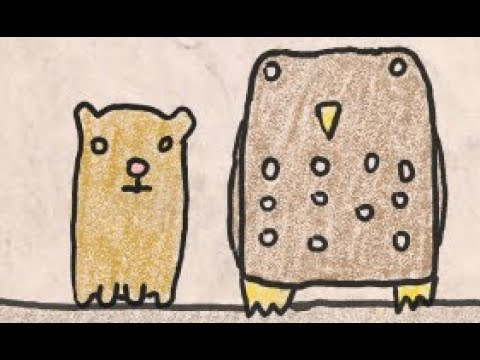 Some Facts About Owls:  A Funny but Super Simple Colored Pencil Cartoon Animation