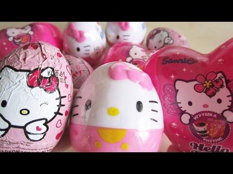 Đồ chơi trứng Hello Kitty - Bóc trứng Socola Hello Kitty - Kinder Surprise Hello Kitty 2015