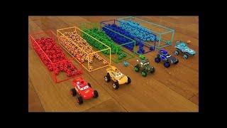 Aprendiendo colores, formas, pelotas, camiones y carros en inglés
