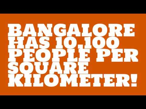 What is the land area of Bangalore?