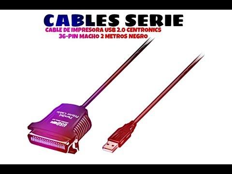 Video de Cable de impresora USB 2.0 Centronics 36-Pin macho 2 M Negro