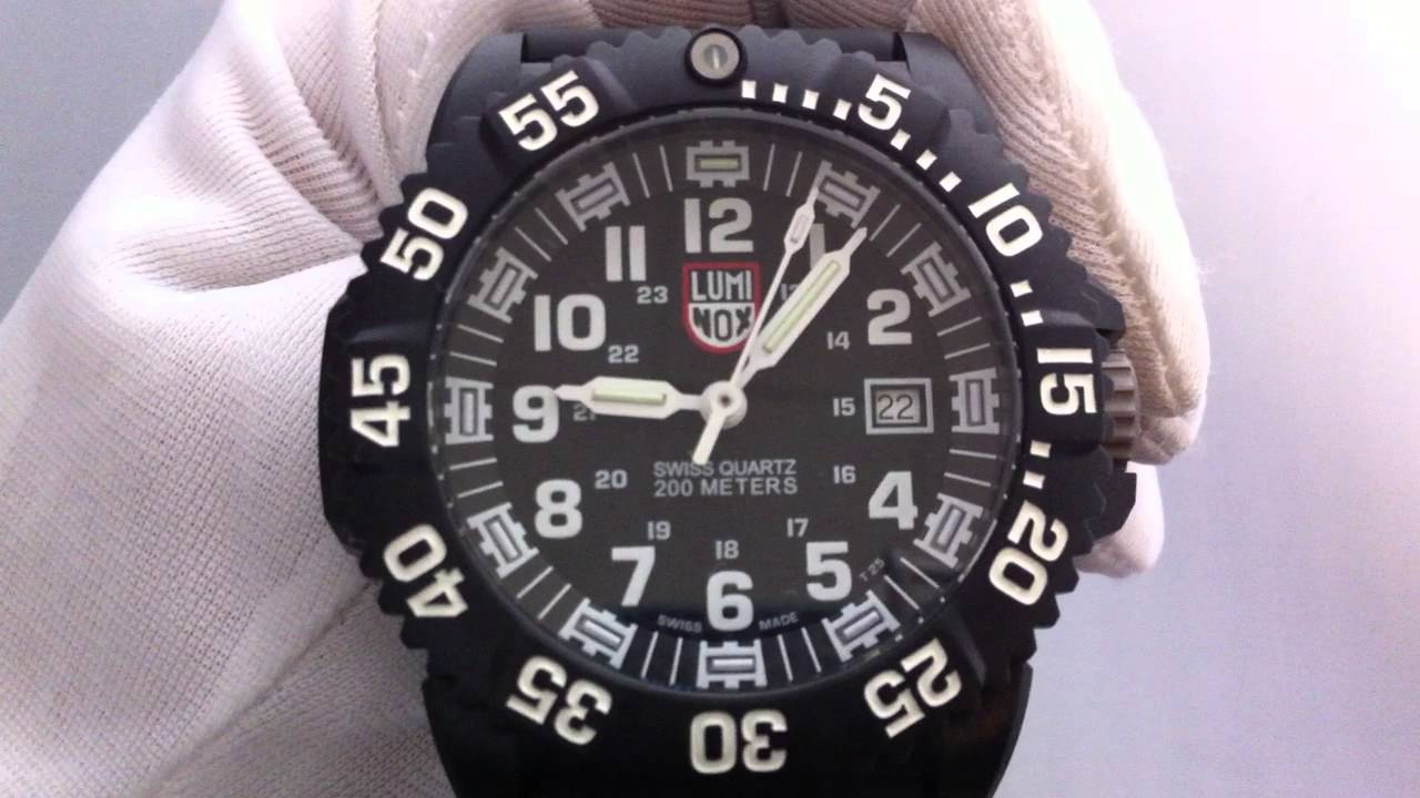 Men s Luminox EVO Navy SEAL Colormark Watch 3051 - YouTube ee6bc086163