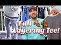 "MEN'S FASHION LAYERING TIPS!  DIY ""RAW EDGE"" T-SHIRT - BASIC LAYERING TEE FOR CHEAP!"
