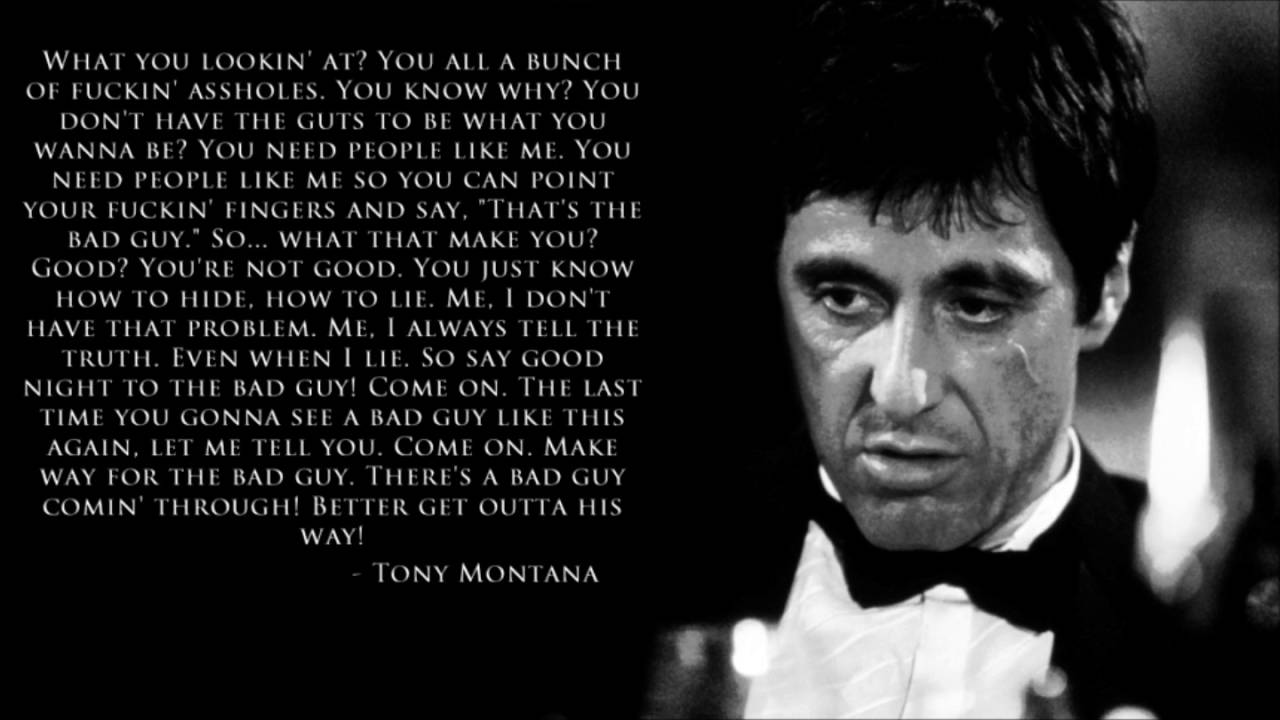 Tony Montana Quotespeech Youtube